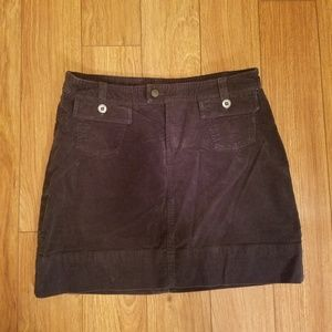 Patagonia Corduroy Black Skirt Size 8
